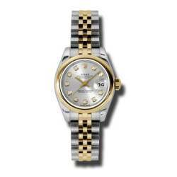 Rolex Lady-Datejust Silver/Diamond Jubilee 179163