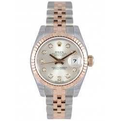 Rolex Lady-Datejust Silver/Diamond Jubilee 179171