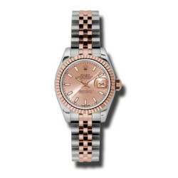 Rolex Lady-Datejust Pink/index Jubilee 179171