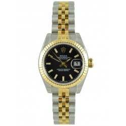 Rolex Lady-Datejust Black/index Jubilee 179173