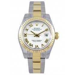 Rolex Lady-Datejust White Roman Oyster 179173