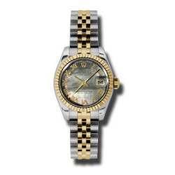 Rolex Lady-Datejust Black mop Roman Jubilee 179173