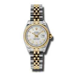 Rolex Lady-Datejust Silver/index Jubilee 179173