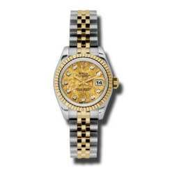Rolex Lady-Datejust Yellow Gold Crystals/Diamond Jubilee 179173
