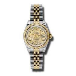 Rolex Lady-Datejust Gold Crystals Jub/Diamond Jubilee 179173