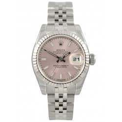 Rolex Lady-Datejust Pink/index Jubilee 179174