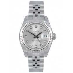 Rolex Lady-Datejust Silver/Diamond Jubilee 179174