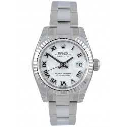 Rolex Lady-Datejust White Roman Oyster 179174