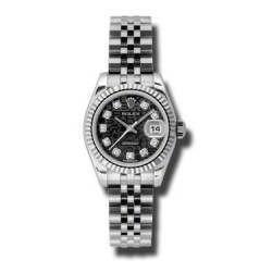 Rolex Lady-Datejust Black Jub/Diamond Jubilee 179174