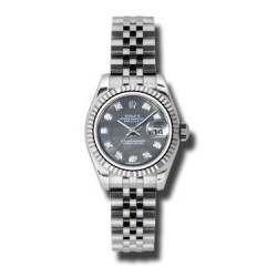 Rolex Lady-Datejust Black mop/Diamond Jubilee 179174