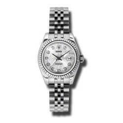 Rolex Lady-Datejust Silver Jub/Diamond Jubilee 179174