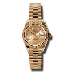 Rolex Lady-Datejust Pink Roman President 179175