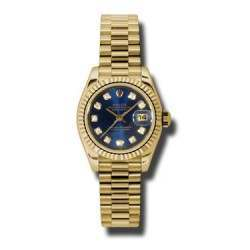 Rolex Lady-Datejust Blue/Diamond President 179178