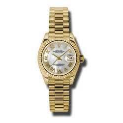 Rolex Lady-Datejust White mop Roman President 179178