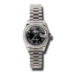 Rolex Lady-Datejust Black Roman President 179179