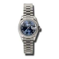 Rolex Lady-Datejust Blue Roman President 179179
