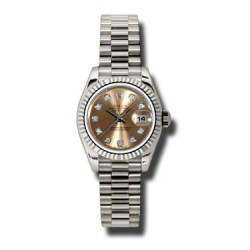 Rolex Lady-Datejust Pink/Diamond President 179179