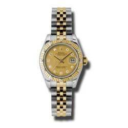 Rolex Lady Datejust Steel&Yellow Gold Champagne/diamond Jubilee 179313