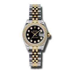 Rolex Lady-Datejust Black/Diamond Jubilee 179383