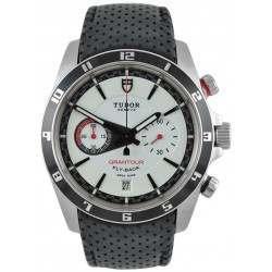 Tudor Grantour Chrono Fly-Back White Dial/ Leather 20550N