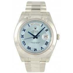 Rolex Day-Date II Ice Blue Roman Concentric President 218206