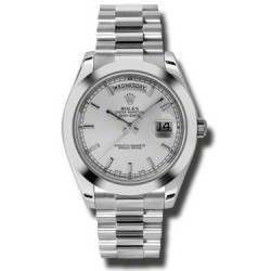 Rolex Day-Date II Silver/index President 218206