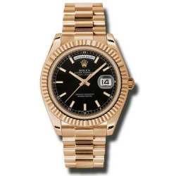 Rolex Day-Date II Black/index President 218235