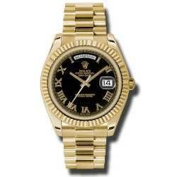 Rolex Day-Date II Black Roman President 218238