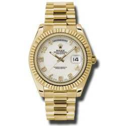Rolex Day-Date II Ivory Arab Concentric President 218238