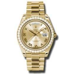 Rolex Day-Date II Champagne Roman President 218348