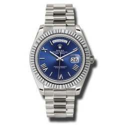 Rolex Day Date Blue/ Roman White Gold 228239 Basel 2015