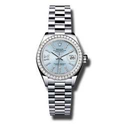 Rolex Lady Datejust 28 Platinum Ice Blue 279136RBR