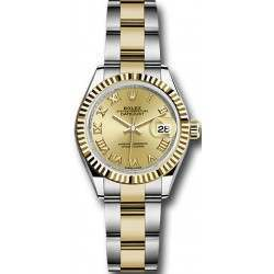 Rolex Lady Datejust 28 Steel&Gold Champagne/ Roman Oyster 279173