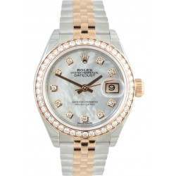 Rolex Lady Datejust 28 Rose Gold White MOP/Diamonds Jubilee 279381RBR