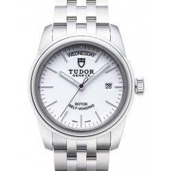 Tudor Glamour Date-Day 39mm White/Steel 56000
