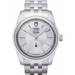 Tudor Glamour Double Date Watch 57000 Silver Dial