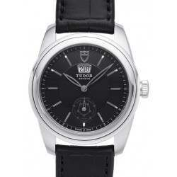 Tudor Glamour Double Date Leather Watch 57000