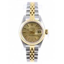 Rolex Lady DateJust Champagne Baton  69173