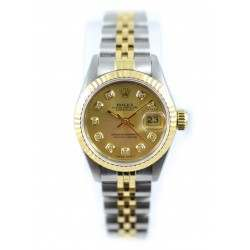 Rolex Lady Datejust after set Champagne diamond  69173