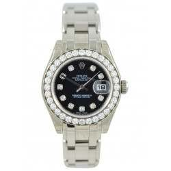 Rolex Pearlmaster Lady Black/diamond 80299