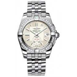 Breitling Galactic 36 (Polished Steel/ Diamonds) Caliber 37 Automatic A3733053.G706.376A