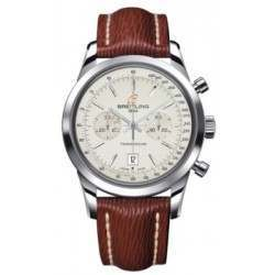 Breitling Transocean Chronograph 38 Caliber 41 Automatic A4131012G757221X