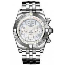 Breitling Chronomat 44 (Polished & Satin) Caliber 01 Automatic Chronograph AB011011.A691.375A