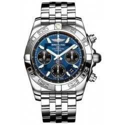 Breitling Chronomat 41 Steel Caliber 01 Automatic Chronograph AB014012C830378A