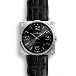 Bell & Ross BR S Mecanique Officer Black BRS92-BL-ST