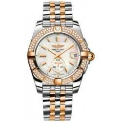 Breitling Galactic 36 (Steel & Rose Gold/ Diamonds) Caliber 37 Automatic C3733053.A724.376C