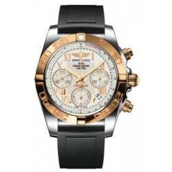 Breitling Chronomat 41 Steel  Gold Caliber 01 Automatic Chronograph CB014012G759132S