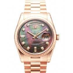 Rolex Day-Date Black mop/Diamond President 118235