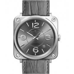 Bell & Ross BR S Officer Ruthenium BRS92-RU-ST/SCR