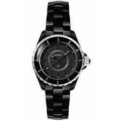 Chanel J12 Black Quartz Ladies H3828